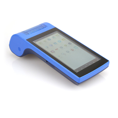 Bluetooth All In One Portable Pos Terminal Dengan Printer Barcode Scanner